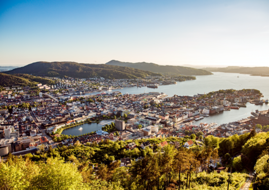 Bergen by summer