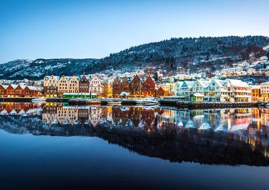 Bergen by winter