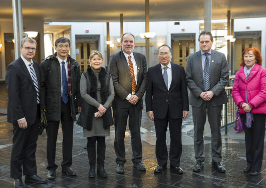 Representatives from China and Bergen at Faculty of Law