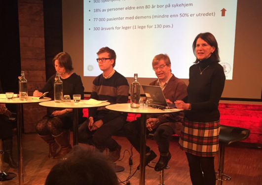 Paneldebatt om helseprioriteringer på Litteraturhuset