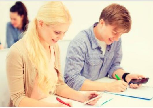 Studenter som jobber