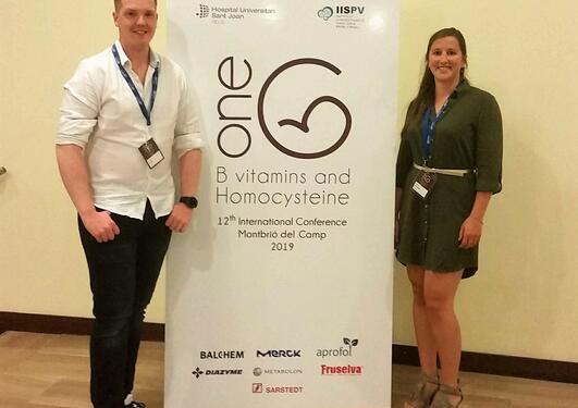 Vegard Lysne og Anthea Van Parys på Homosystein-konferanse