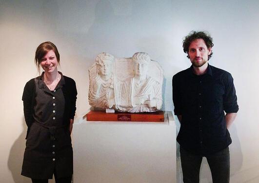 Birgit og Håkon på Bryggens Museum