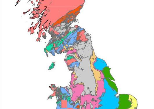 map Great Britain fossil