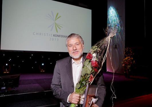 Eystein Jansen med Christieprisen for 2013.