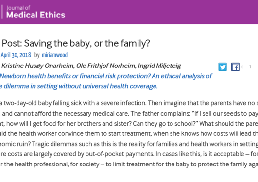 Blog post Journal of Medical Ethics