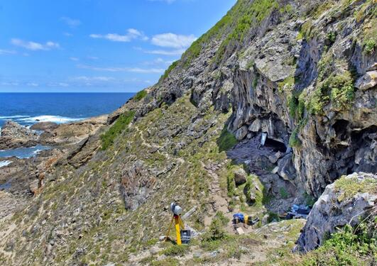 Blombos Cave - outside view