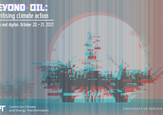 Oil rig with glitch effect and stripes in the background