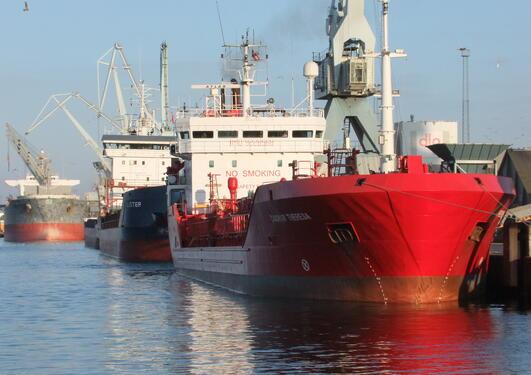 Skip i havn