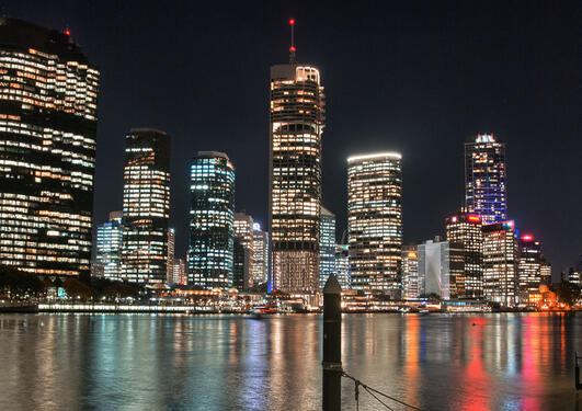 Night skyline of Brisbane, Australia.