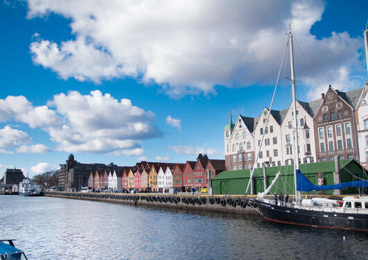 Picture of bryggen in Bergen