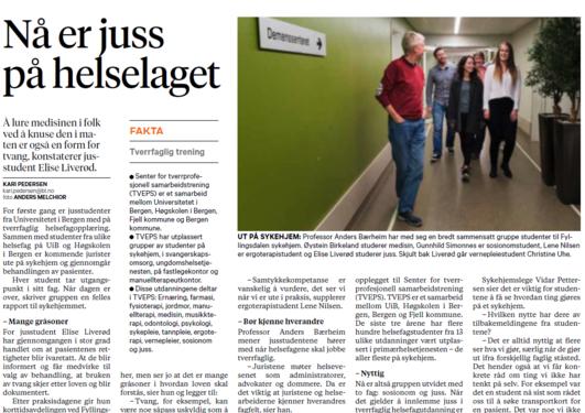 Faksimile av Bergens Tidende 20.10.15