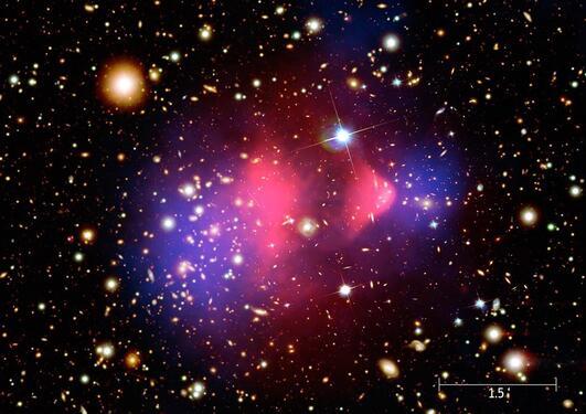 Illustrasjon av mørk materie - stjerne klynge