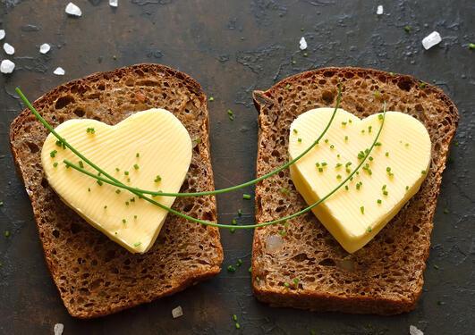 Illustrasjonsfoto smør