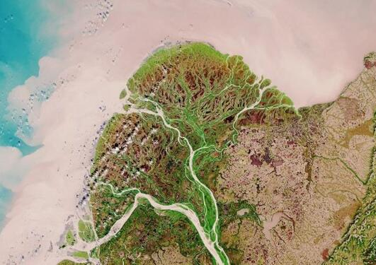 Sentinel 2 image of the Lena Delta, Russia