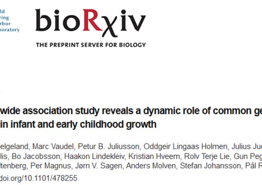 New publication at biorxiv