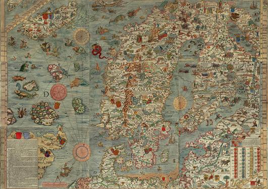 Carta Marina, det tidligste korrekte kartet fra 1500-tallet