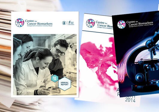 CCBIO annual report covers from 2013, 2014, 2015 and 2016.
