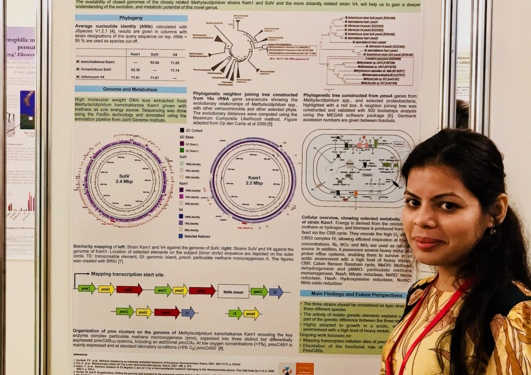 Chandini Murarilal Ratnadevi at the poster presentation.