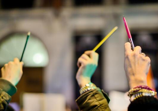 Støttemarkering for Charlie Hebdo i Madrid 7. januar 2015