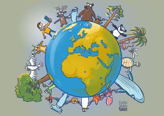 Logo of United for Biodiversity coalition