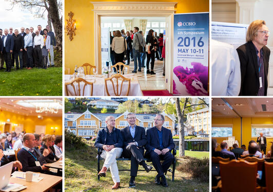 Collage of photos from the CCBIO Annual Symposium in 2015.