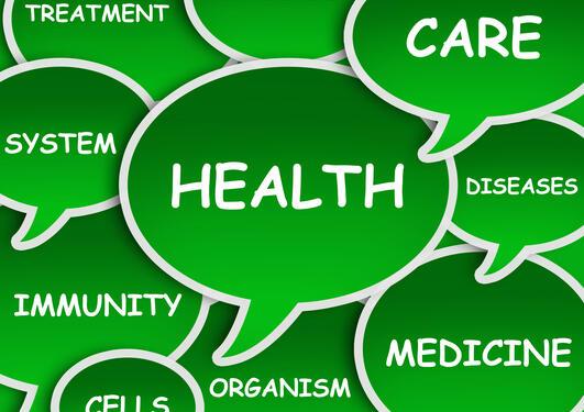 Illustrasjon tegnet health strenghtening