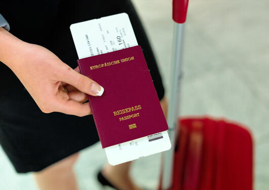 Woman with passport