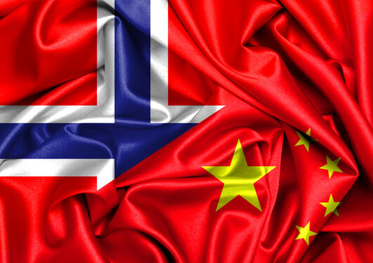 Norway-China Flag