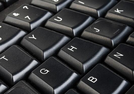 Biletet viser eit tastatur.