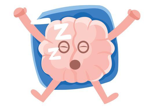 Sleeping brain emoji