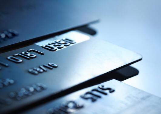 Bildet viser et kredittkort