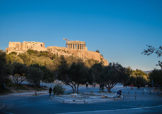 Photo of the acropolis from afar