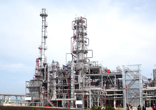 Stock photo of oil refinery.