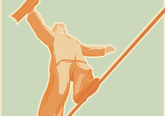 Rope-walker (illustration photo)