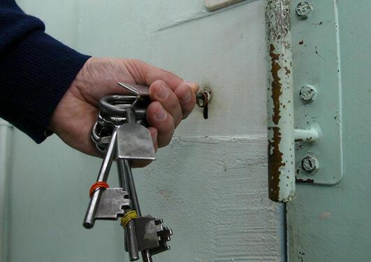 Illustrasjonsfoto: lås for fengselsdør