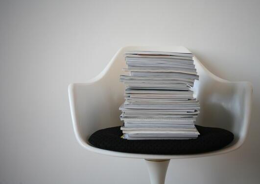 Bunke med papir