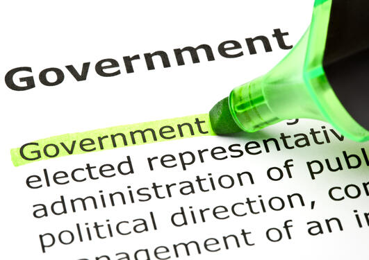 The word government underlined