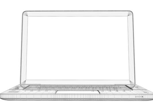 Tegning av laptop