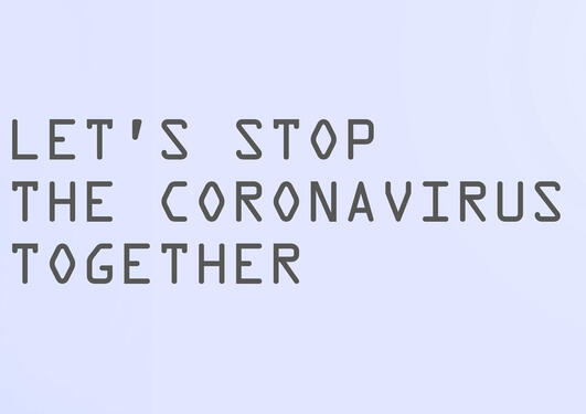 doctor and text Lets stop the coronavirus together