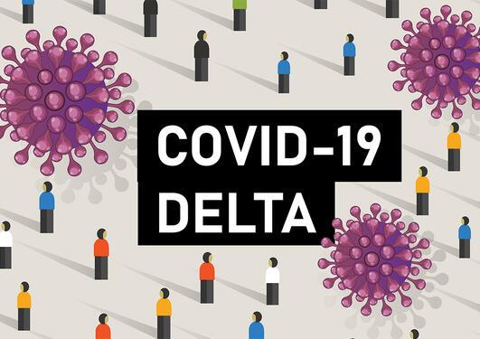 illustrasjon av deltaviruset