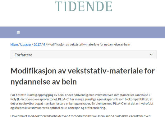 Den norske tannlegeforenings Tidende