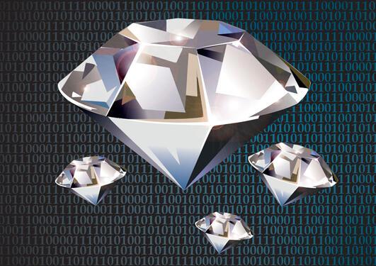 Illustration of diamonds.