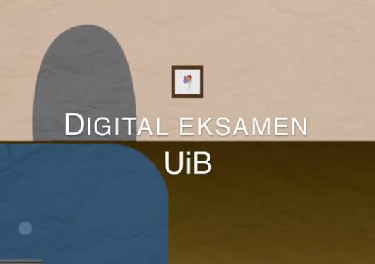 Digital eksamen ved UiB-plakat