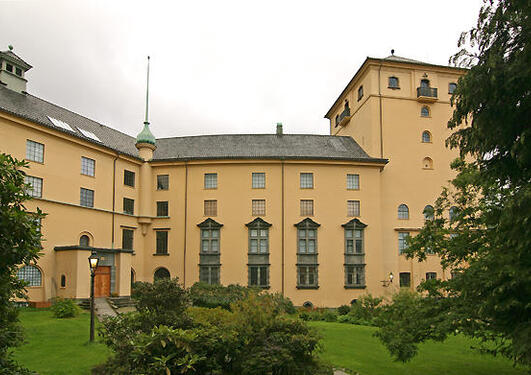 De kulturhistoriske samlinger, fasade
