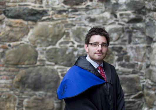 Håkon Haugland, tok doktorgraden ved Det humanistiske fakultet