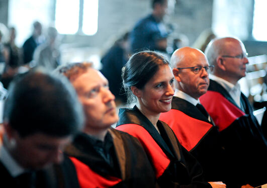 Doctors at University of Bergen attending the so-called doctor promotion at Håkonshallen in August 2013.