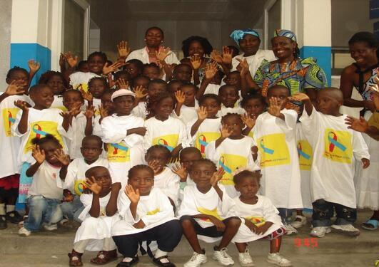DRC school children
