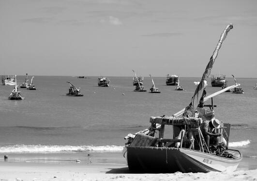 Picture of boats on a shore in Brazil