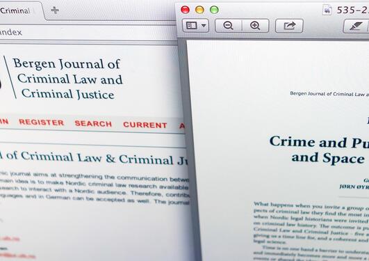 skjermdump av elektronisk tidsskrift